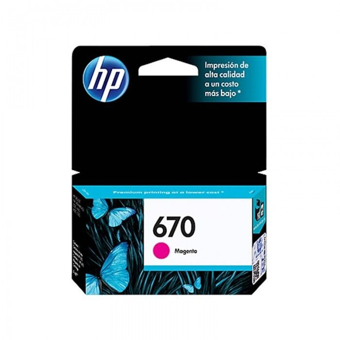 Cartucho HP 670 Magenta Original