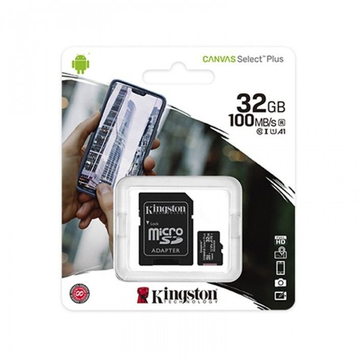 Tarjeta Micro SDXC Kingston 32GB Clase 10