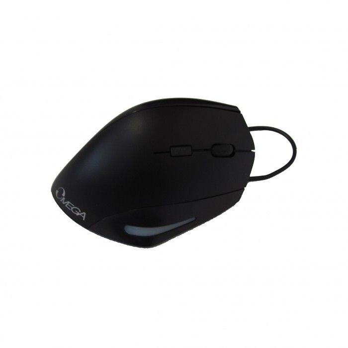Mouse Omega Vertical Ergonómico USB